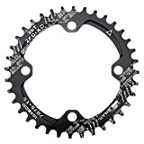 CYSKY 36T Plato ancho y estrecho 104 BCD Solo plato con 9 10 11 velocidades para bicicleta de carretera Bicicleta de montaña BMX MTB (Negro)