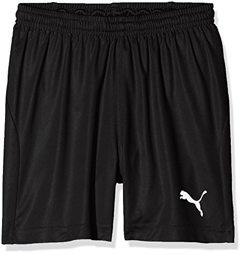 PUMA Kinder Liga Shorts Core w Brief Jr Hose, schwarz (Puma Black-Puma White), 152