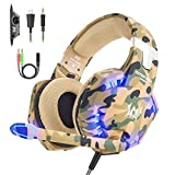 VersionTECH. Casque Gaming PS4 Xbox One Anti-Bruit Militaire avec Micro, LED...