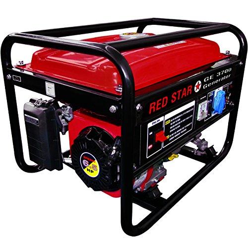 Mosa 5311020 Generatori Red-Star GE-3700, Motore Benzina, 4 Tempi, 200CC, 2.5 kW