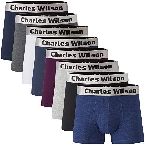 Charles Wilson 8er Packung Herren Boxershorts mit Beinansatz
