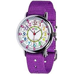 EasyRead time teacher ERW-COL-24 Montre pour enfants 12-24 heures, violet (2 Couleurs disponibles)