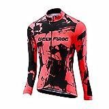 Uglyfrog Bike Wear Radsport Bekleidung Damen Thermo Fahrradtrikot Langarm Winter Radtrikot Pro/Windstopper/Atmungsaktiv/Reflektoren/Full Zip
