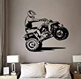 Zybnb Motocross Wandaufkleber Kunst Diy Schlafzimmer Boy Zimmer Dirt Bike Dirtbike Moto Bike Wand Aufkleber Kinderzimmer Baby Kinderzimmer Vinyl Home Decor