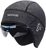 SGODDE Fahrrad Mütze Caps,Warm Winddichte Wintermütze für Herren Damen Helm-Unterziehmütze,dehnbarer Kopfwärmer für Outdoor-Sportmütze Radfahren Laufen Skifahren Motorradfahren Snowboarden