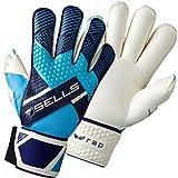 Para hombre Sells Wrap Cyclone Roll dedo guantes de portero para fútbol, azul