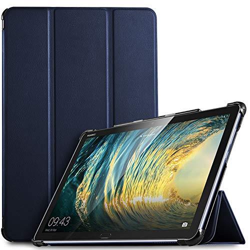 IVSO Hülle für Huawei MediaPad M5 Lite 10, Ultra Schlank Slim Schutzhülle Hochwertiges PU mit Standfunktion Perfekt Geeignet für Huawei MediaPad M5 Lite 10 10.1 Zoll 2018 Modell, Blau
