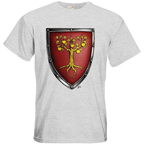 getshirts - Das Schwarze Auge - T-Shirt - Die Siebenwindküste - Wappen - Traviarim Ash
