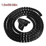 #9: Osteo Cable Holder Organizer 0.79inch Diameter Flexible Spiral Tube Wire Winder Management (59 inch)