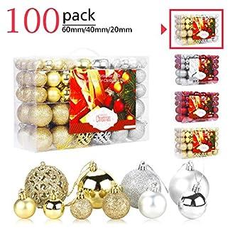 Aitsite Bolas de Navidad Bolas de árbol de Navidad Adorno de Pared Colgante de Pared Adornos Decoraciones Árbol Bolas Decorativas Boda de Fiesta Suministro Hogar Decoraciones para Festivales