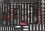 Vigor Steckschlüssel-Werkzeug-Satz, Innenvierkant Antrieb 6,3 mm-1/4 Zoll, 10 mm-3/8 Zoll und 12,5 mm-1/2 Zoll, 1 Stück, V4188