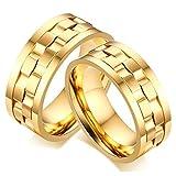 Gnzoe 9MM Removable Acciaio Inossidabile Lui & Lui Anello di Nuziale per Husband Oro