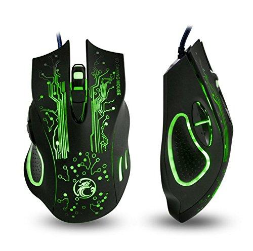 Apedra, Ratón de juego óptico con cable, Ghost Knight X9, retroilumi