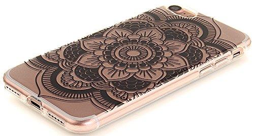 Nnopbeclik [Coque Iphone 7 Silicone ]Transparente élégant Style de Impression Couleur Motif Doux Backcover Case Housse pour Iphone 7 Coque Apple (4.7 Pouce) Protection Antiglisse Anti-Scratch Etui - [ dentelle2