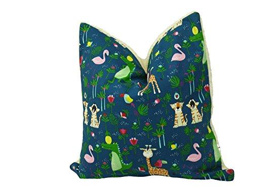Fitzibiz Kinderkissenbezug Dschungel, 80x80cm Auch in Anderen Größen verfügbar