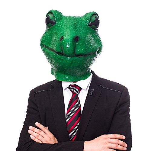 molezu Frosch Maske, Halloween Tierkopfmaske, Neuheit Kostüm Party Cosplay Latex Maske Erwachsene