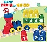 Tutor Blocks Magnetbausteine Serie 203 Zahlenzug Kleinkind Lernbausteine Babyspielzeug Motorikspielzeug ab 6 Monate