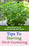 Tips to Starting Herb Gardening: What Should You Do Before Starting Herb Garden