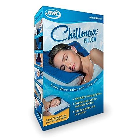Chillmax–Oreiller en gel–Refroidissement naturel et confort maximum–Compatible avec tout oreiller