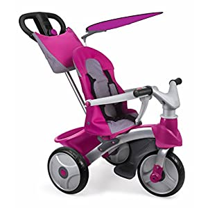 Feber 800009561 - Baby Trike Easy Evolution Girl, Bobbycar Bugaboo Includes sun canopy and bassinet apron. Easily refresh stroller look by changing the fabric set Available in a variety of colors. 4