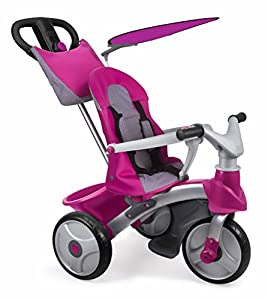 FEBER - Triciclo Baby Trike Easy Evolution, Color Rosa (Famosa 800009561)