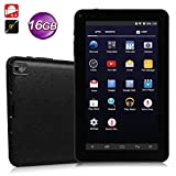 Tablette Android Smart 4Core 1+ 16G Noir/blanc, Mamum 22,9cm A33Quad Core Dual Camera Android 4.4Wifi HD 1G + 16G tablette Taille unique noir...