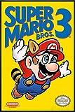 Super Mario Bros. 3 Poster (93x62 cm) gerahmt in: Rahmen schwarz