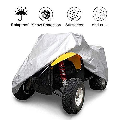 Möbelsets All-Terrain-Fahrzeug, ATV Case - Weiß, Wasserdicht Schwerer, Allwetter-Schutz, Zu Schützen Universalantrieb Quad-Bike (Color : White, Size : XXL)