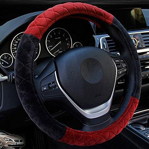 Zhuhaitf pratique Winter Warm Anti Slip Decorative Soft Plush Van Auto Car Steering Wheel Cover Winter Driving Accessory 38CM