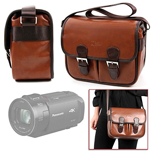 DURAGADGET Borsa Vintage per Fotocamere videocamera Panasonic HC-VX1K / HC-WXF1 - con Tracolla Regolabile - Alta qualità