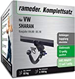 Rameder Komplettsatz, Anhängerkupplung abnehmbar + 13pol Elektrik für VW Sharan (143196-01312-2)