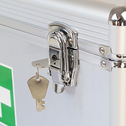 51F%2BtgsripL - HMF 14701-09 Botiquín de Primeros Auxilios, Depósito de Medicamentos, asa de Transporte, Aluminio, 40 x 22,5 x 20,5 cm