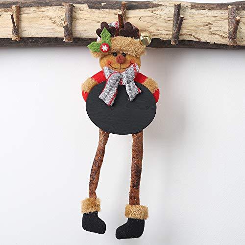 Daygeve Zuhause Party Deko, Anatomische Tracing, Medizinische Lehre, Halloween Dekoration Statue,Weihnachtsbaum-Verzierungs-Puppen-hängender Schneemann Santa Claus Door Window Decoration