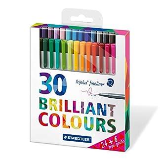 Staedtler 334 C30P – Paquete de 30 rotuladores, Multicolor