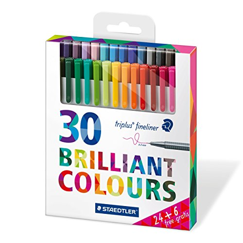 Staedtler-334-C30P-Paquete-de-30-rotuladores-Multicolor