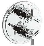 Grohe Atrio Unterputz Thermostat-Wannenarmatur für Rapido T, Ypsilon Griff, chrom 19395000