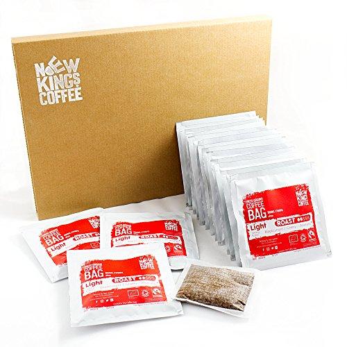 Bolsas de café recién molidas - Fairtrade, orgánico, único origen, 100% arábica (Light Roast - Sidamo, Etiopía, África, Caja de 16 bolsas de café envueltas individualment)