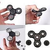 HENGSONG Fidget Toys Hand Spinner Finger Spielzeug für Kinder und Erwachsene Spielzeug Geschenke (Schwarz)