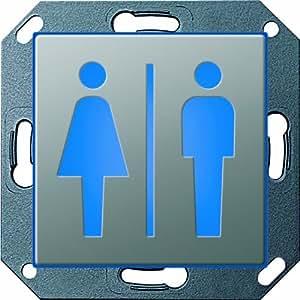 GIRA 279120 Orientierungsleuchte LED WC Damen Herren E22 Edelstahl