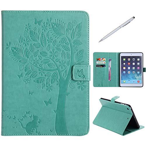 iPad Mini 1/2 / 3 Hülle, SHUYIT Prägung Muster PU Leder Tasche Flip Ständer Case Cover Handyhülle Schutzhülle für Apple iPad Mini 1/2 / 3 Etui Lederhülle mit Auto Einschlafen/Aufwachen + 1*Stylus (Keyboard-ständer Und Legen Sie)