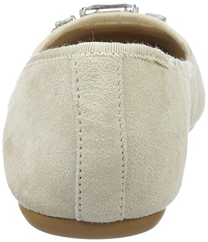 Buffalo London Damen 216-4052 Kid Suede Geschlossene Ballerinas Beige (NUDE 01)