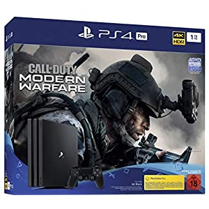 PlayStation 4  Pro – Konsole inkl. Call of Duty – Modern Warfare (1TB, schwarz, Pro)