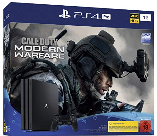PlayStation 4  Pro - Konsole inkl. Call of Duty - Modern Warfare (1TB, schwarz, Pro)