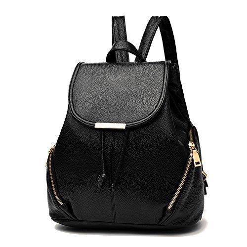 Z-joyee Casual Geldbörse Mode Schule Leder Rucksack Schultertasche Mini Rucksack für Damen & Mädchen