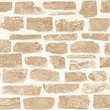 UGEPA Vliestapete Steinwand, beige, AB003317