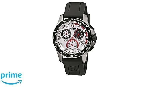 Wenger herren armbanduhr analog quarz kautschuk 70791