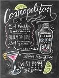 Posterlounge Acrylglasbild 100 x 130 cm: Cosmopolitan-Rezept von Lily & Val/MGL Licensing - Wandbild, Acryl Glasbild, Druck auf Acryl Glas Bild