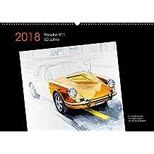 50 Jahre Porsche 911 (Wandkalender 2018 DIN A2 quer): 50 Jahre Porsche 911 Kunstkalender mit Ölgemälden (Monatskalender, 14 Seiten ) (CALVENDO Orte) ... Bartsch / design, Andreas und bartsch., k.A.