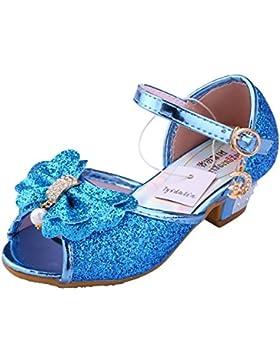 [Patrocinado]Tyidalin Niña Bailarina Zapatos de Tacón Disfraz de Princesa Zapatilla de Ballet para 3 a 12 Años EU24-35(Color...