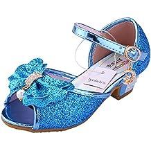 Scarpe Con Tacco Bambina Ragazza Principessa Ballerina Costume Sandali -  Tyidalin Perline e Paillettes Eleganti Glitter 7ac9dfbd125